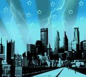 Cidade azul Imagem de Stock