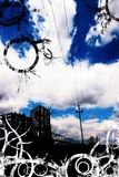 A cidade azul imagens de stock royalty free