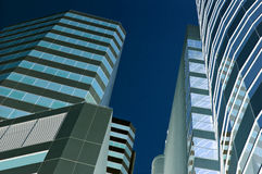 Cidade azul fotografia de stock