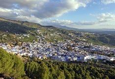 A cidade azul Arquitetura da cidade de Chefchaouen em Marrocos Fim acima imagens de stock