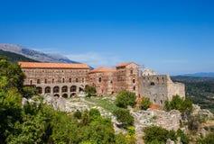 Cidade bizantina de Mystras, Peloponnesus, Grécia Imagens de Stock Royalty Free