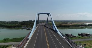 Cidade bonita aérea em China - hefei vídeos de arquivo