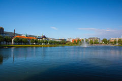 A cidade bonita de Bergen fotografia de stock royalty free