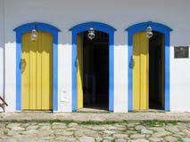 Cidade bonita de Paraty, uma das cidades coloniais as mais velhas no Br Fotografia de Stock