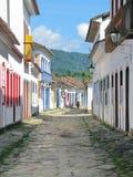 Cidade bonita de Paraty, uma das cidades coloniais as mais velhas no Br Foto de Stock Royalty Free