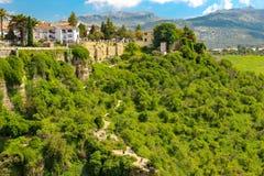 Cidade bonita de Ronda, vista de fotografia de stock