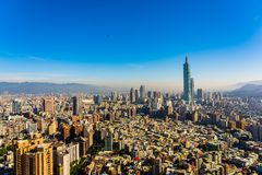 Cidade bonita de taipei da construção da arquitetura fotos de stock royalty free