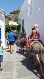 Cidade bonito em Grécia Imagens de Stock Royalty Free
