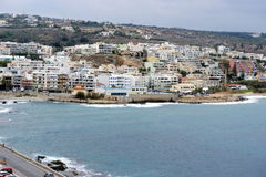 A cidade branca de Rethymno, Creta Imagens de Stock
