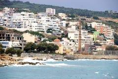 A cidade branca de Rethymno, Creta Imagem de Stock