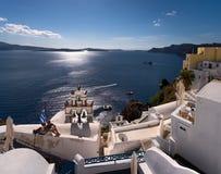 Cidade branca de Santorini Greece Imagens de Stock