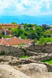 Cidade, Bulgária e ruínas de Plovdiv da fortaleza velha fotos de stock