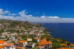 Cidade Camara de Lobos - Madeira Portugal imagens de stock