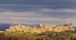 cidade Carcassonne-fortificada Fotos de Stock Royalty Free