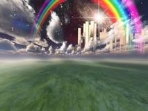 Cidade celestial Imagens de Stock