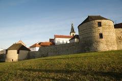 Cidade center histórica Louny Fotos de Stock
