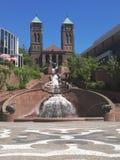 Cidade central com minha amiga bonita Imagens de Stock Royalty Free