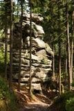 Cidade checa da rocha Fotografia de Stock Royalty Free