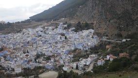 Cidade Chefchaouen em Marrocos filme