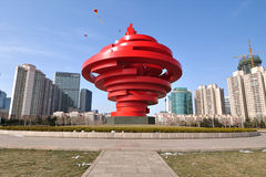 Cidade China de Qingdao foto de stock