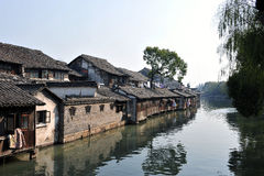 Cidade chinesa bonita da água, Wuzhen Suzhou Jiangsu China Fotografia de Stock Royalty Free