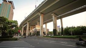 Cidade chinesa de Shanghai video estoque