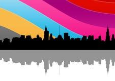 Cidade colorida Fotografia de Stock Royalty Free