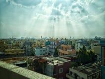 Cidade colorida Banglore fotografia de stock royalty free