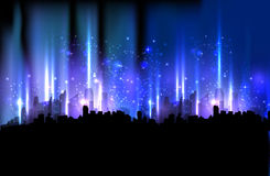 Cidade colorida da noite Fotografia de Stock Royalty Free