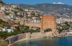 A cidade colorida de Alanya, Turquia imagem de stock royalty free