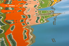 Cidade colorida de Burano em Italy Fotos de Stock Royalty Free