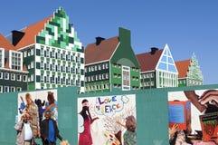 Cidade colorida Hall Zaandam, Países Baixos Fotografia de Stock Royalty Free
