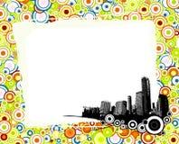 Cidade com círculos coloridos. Fotos de Stock