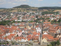 Cidade com telhados vermelhos Imagens de Stock Royalty Free