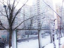 Cidade congelada Imagem de Stock Royalty Free
