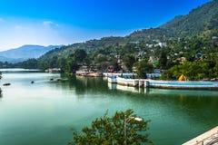 A cidade conhecida para o lago nomeou Bhimtal Fotos de Stock Royalty Free