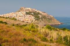 Cidade costeira Castelsardo Fotografia de Stock Royalty Free