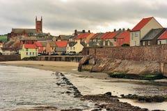 Cidade costeira de Dunbar, Escócia fotografia de stock