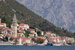 A cidade costeira em Montenegro Foto de Stock Royalty Free
