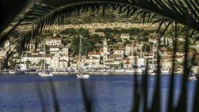 Cidade costeira pequena Imagem de Stock