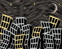 Cidade curvada Imagens de Stock