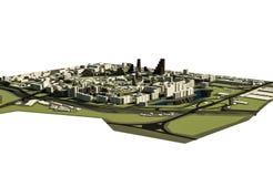 cidade 3D Imagem de Stock Royalty Free