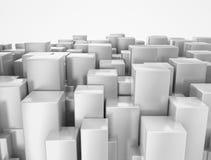 Cidade 3D abstrata Fotografia de Stock