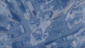 A cidade 3D abstrata desvanece-se no embaçamento ilustração do vetor