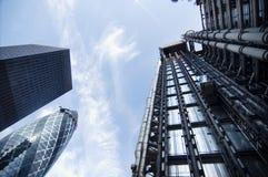 Cidade da área financeira de Londres Fotografia de Stock