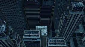 cidade da antena 3d ilustração royalty free