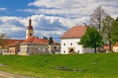 Cidade da arquitetura histórica de Koprivnica fotos de stock royalty free