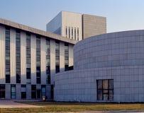Cidade da arquitetura moderna Imagens de Stock Royalty Free