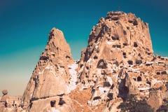 Cidade da caverna de Ortahisar em Capapdocia Imagem de Stock Royalty Free