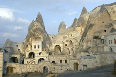 Cidade da caverna em Cappadocia Fotos de Stock